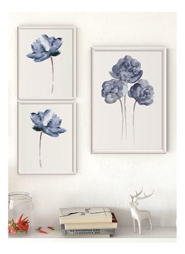 Lyn Home & Decor Lotus Çerçeveli Poster 3 Lü Tablo 1 Adet 23,5X33,5 2 Adet 17,5X23,5 Beyaz